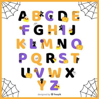 Hermoso alfabeto de halloween
