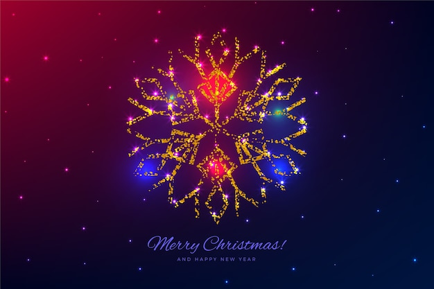 Hermoso árbol decoración fondo de navidad