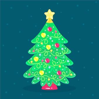Hermoso árbol de navidad 2d