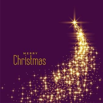 Hermoso árbol de navidad hecho con destellos.