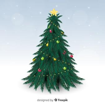 Hermoso árbol de navidad realista