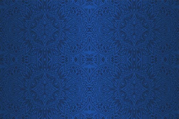 Hermoso arte azul con patrones abstractos sin fisuras