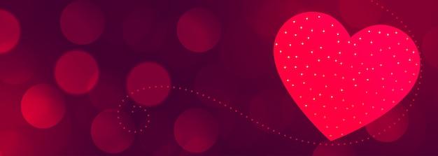 Hermoso banner del día de san valentín con espacio de texto