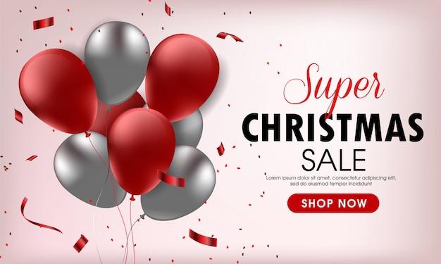 Hermoso banner de feliz venta de navidad
