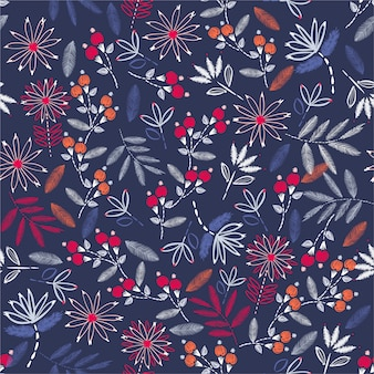 Hermoso bordado de la mano del estado de ánimo de la vendimia. floración tradicional del bordado. diseño de ilustración vectorial para decoración de hogar, moda, tela, papel tapiz y todas las impresiones