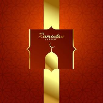 Hermoso, brillante, ramadan, kareem, festival, fondo