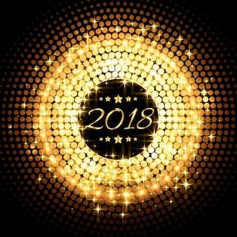 Hermoso brillo que brilla 2018 año nuevo celebración de fondo