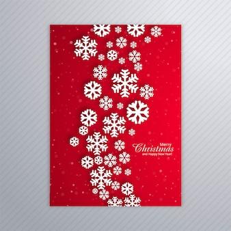 Hermoso cartel de copos de nieve.