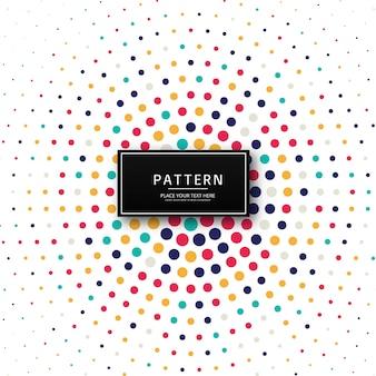 Hermoso colorido patrón de puntos de fondo