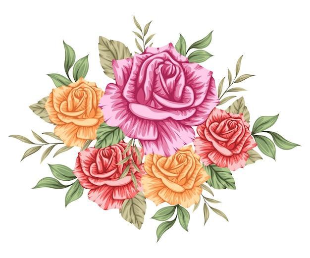 Hermoso colorido ramo de flores