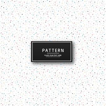 Hermoso colorido vector de diseño de patrón de puntos