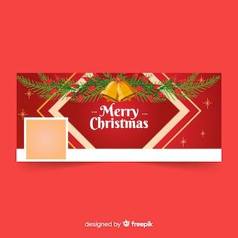 Hermoso concepto de banner de navidad para facebook
