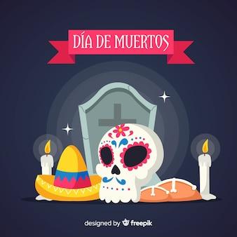 Hermoso concepto de fondo del día de muertos