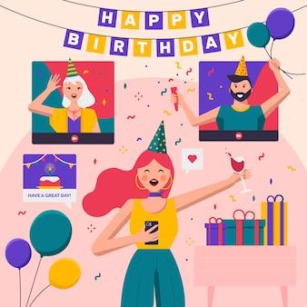Hermoso concepto de feliz cumpleaños