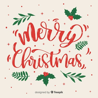 Hermoso concepto de navidad con letras