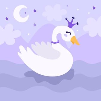 Hermoso concepto de princesa cisne