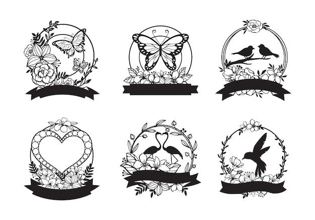 Hermoso conjunto de decoración de monograma