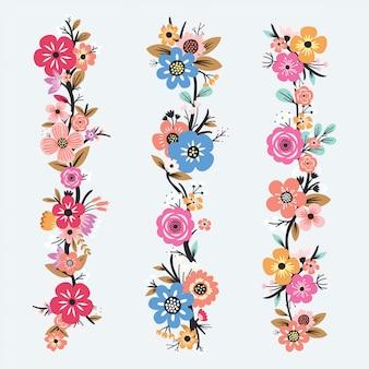 Hermoso conjunto de flores