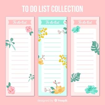 Hermoso conjunto de listas to do