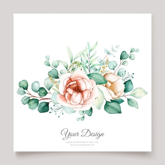 Hermoso conjunto de tarjetas de invitación de boda de eucalipto