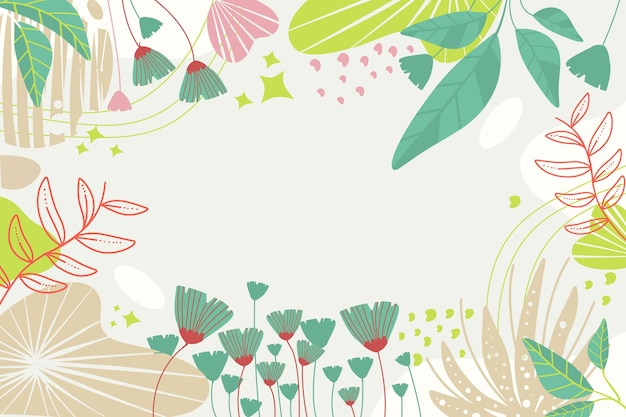 Hermoso y creativo diseño de papel tapiz floral.