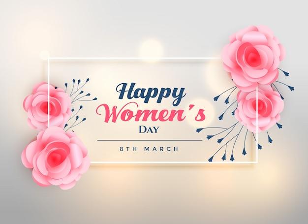 Hermoso día de la mujer encantador fondo rosa