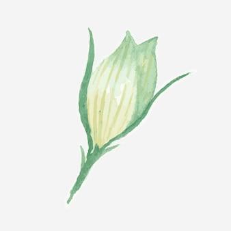 Hermoso diario floral de acuarela pegatina