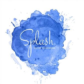 Hermoso diseño azul acuarela splash