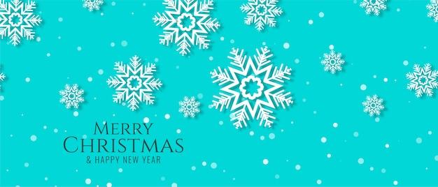 Hermoso diseño de banner de feliz navidad