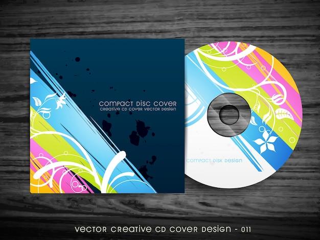 Hermoso diseño elegante de cubierta de cd