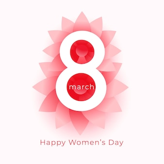 Hermoso diseño feliz del saludo de la flor del día de la mujer