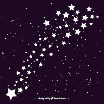 Hermoso diseño de fondo de estrellas fugaz