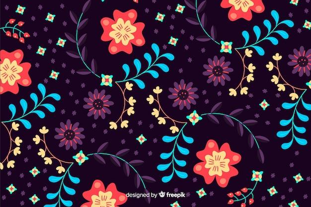 Hermoso diseño de fondo floral