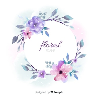 Hermoso diseño de marco floral