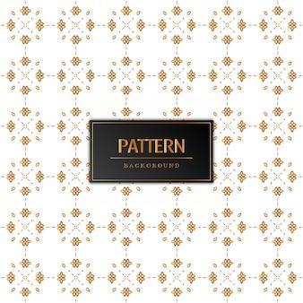 Hermoso diseño de patrón dorado