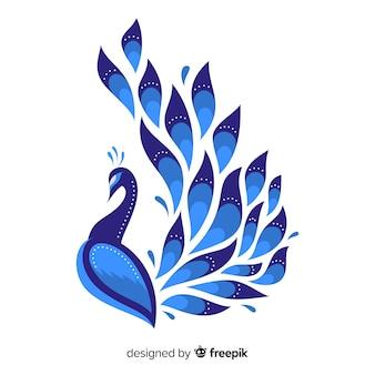 Hermoso diseño de pavo real