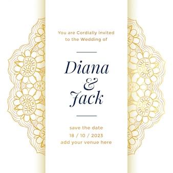 Hermoso diseño de plantilla de boda para matrimonio real