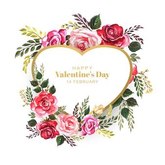 Hermoso diseño de tarjeta de invitación de san valentín