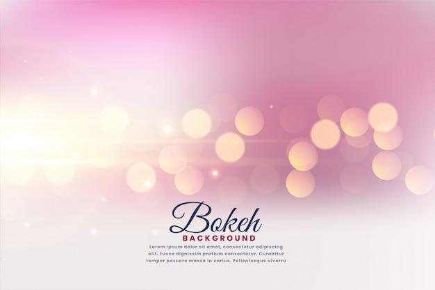 Hermoso efecto de luces bokeh fondo borroso