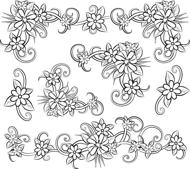 Hermoso elemento floral