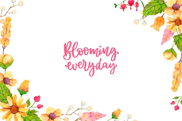 Hermoso estilo de fondo floral