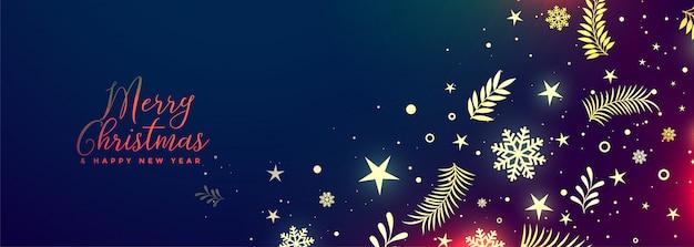 Hermoso feliz navidad bandera decorativa vibrante