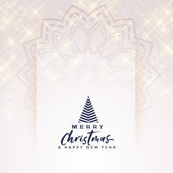 Hermoso feliz navidad elegante diseño de banner de destellos