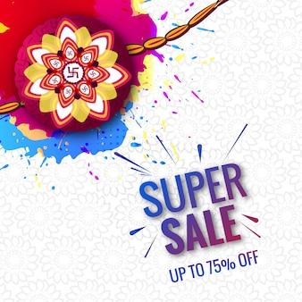 Hermoso festival raksha bandhan súper concepto de venta