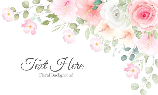 Hermoso floral con suave adorno floral