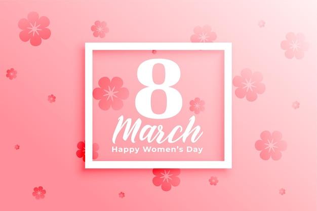 Hermoso fondo del 8 de marzo