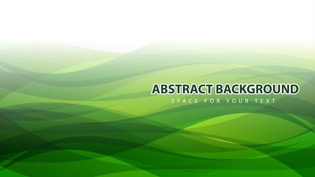 Hermoso fondo abstracto moderno verde que agita