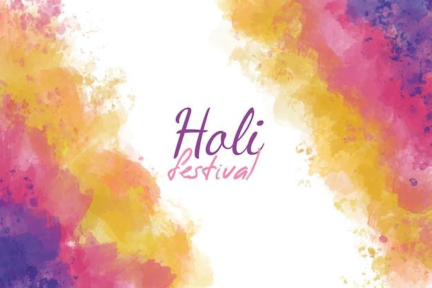 Hermoso fondo de acuarela festival holi vector gratuito