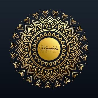 Hermoso fondo de decoración de mandala de oro
