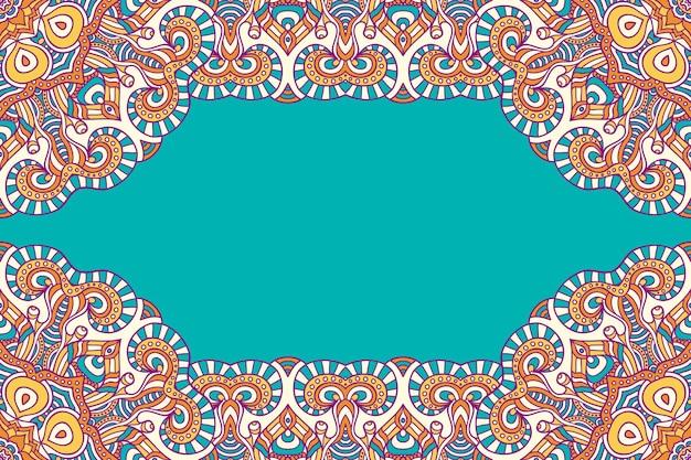 Hermoso fondo decorado con un colorido marco mandala